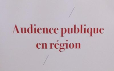 Audience publique en région