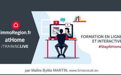 Webinars bimensuels pour les adhérents d'ImmoRegion.fr et AtHome.lu
